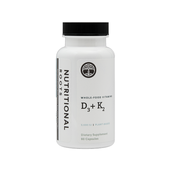 Picture of Plant-Based Vitamin D3 (5,000 IU) + Fermented K2